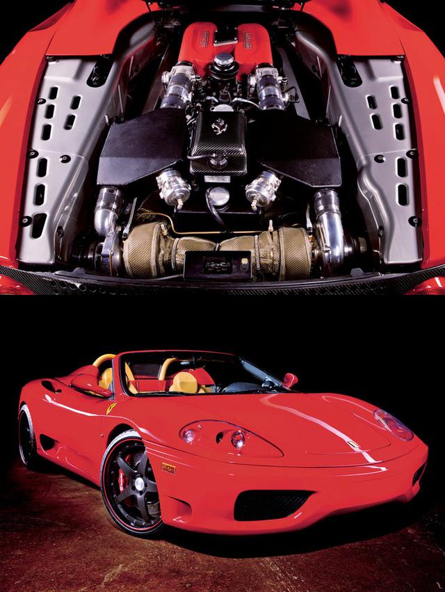 (海外)650馬力!ツインターボ化ウエストゲート仕様!フェラーリ360スパイダー&草ヒロ動画