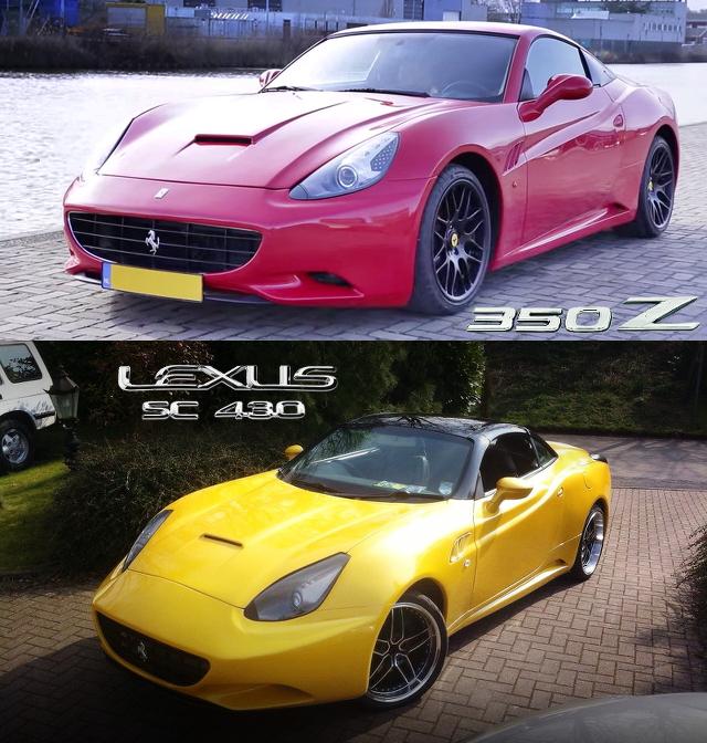 (UK)レクサスSC430ベース!フェラーリ・カリフォルニアレプリカ&日産350Zベース!カリフォルニアレプリカ動画