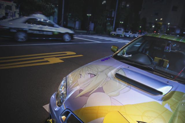 2015年4月3日撮影!秋葉原痛車ストリート(インプレッサワゴンWRX(TOMOさん)/BMW130iMスポーツ(まっちさん))