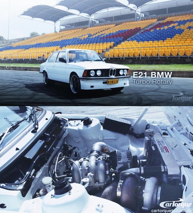 T78タービンVマウントIC仕様パワーFC制御!FC3S型アンフィニRX-7&13BロータリーEG換装E21型BMW323i動画