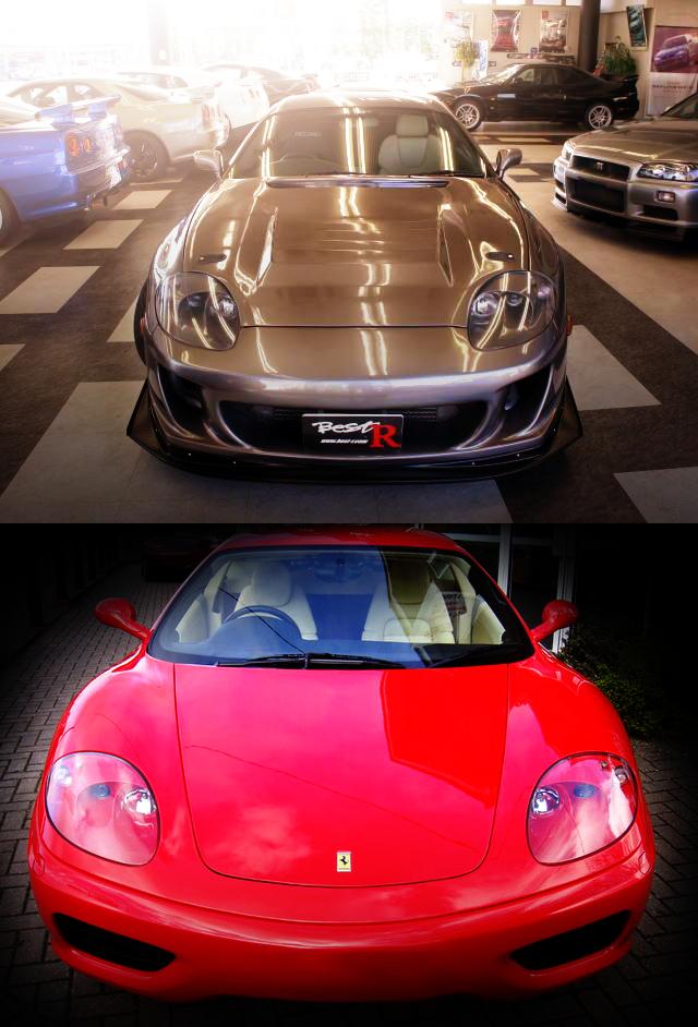 フェラーリ360モデナ用ヘッドライト移植!ワイドフェンダー化!JZA80スープラRZ&草ヒロ!SA22C型RX-7動画
