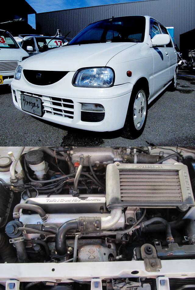 直4ユニットJBターボエンジンスワップ!L510S型ミラモデルノ&3SGTEターボEG換装E80系カローラ4ドア動画