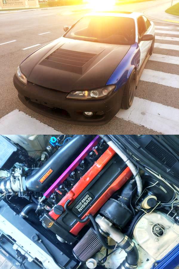 (マイアミ)490馬力!RB25DETターボエンジンスワップ!S15シルビアマスク!S14日産240SX&掲載車の動画