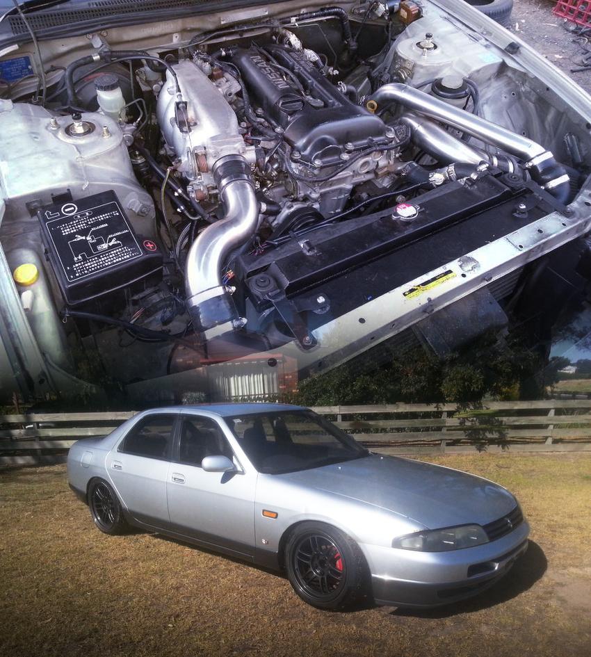 (オーストラリア)S14用SR20DETターボエンジン5MT換装R33日産スカイライン4ドア&掲載車の動画