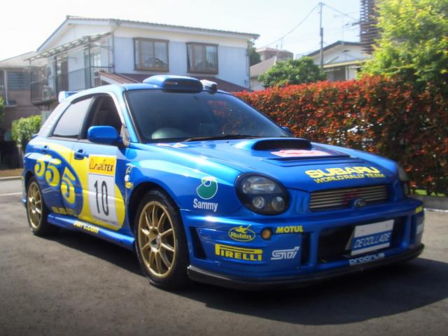 ブリスターワイドボディ化・WRCモンテカルロラリー仕様!GGBインプレッサスポーツワゴンWRX・STi