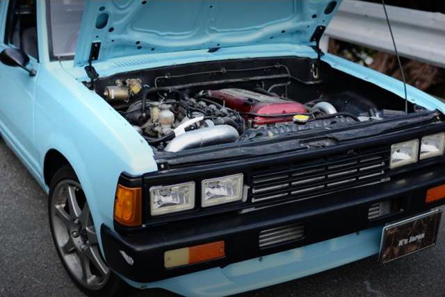 SR20DETターボエンジンスワップ!シルビア用足回り移植!720ダットサントラック・シングルキャブ&掲載車の動画