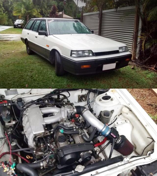 (オーストラリア)ネオ6仕様RB20DEエンジン移植!RB25用5速MT換装!R31スカイラインワゴン