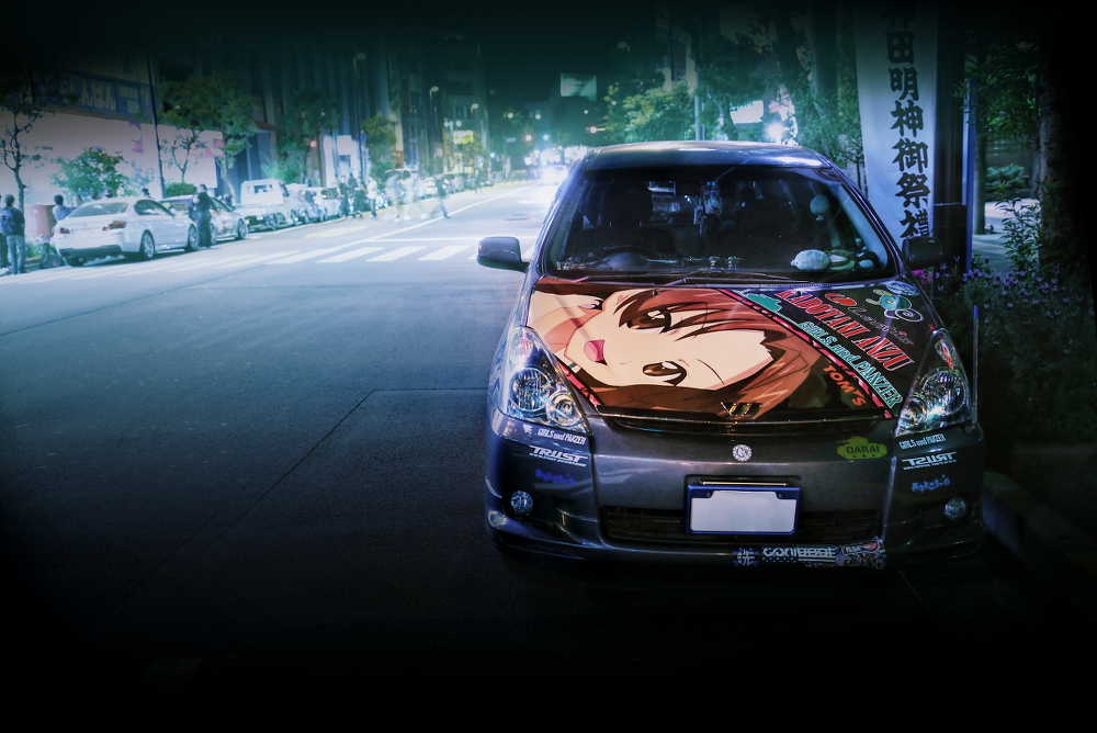 2015年ゴールデンウィーク撮影!秋葉原痛車ストリート(ガールズ&パンツァー/トヨタ・ウィッシュ(Lucaさん))