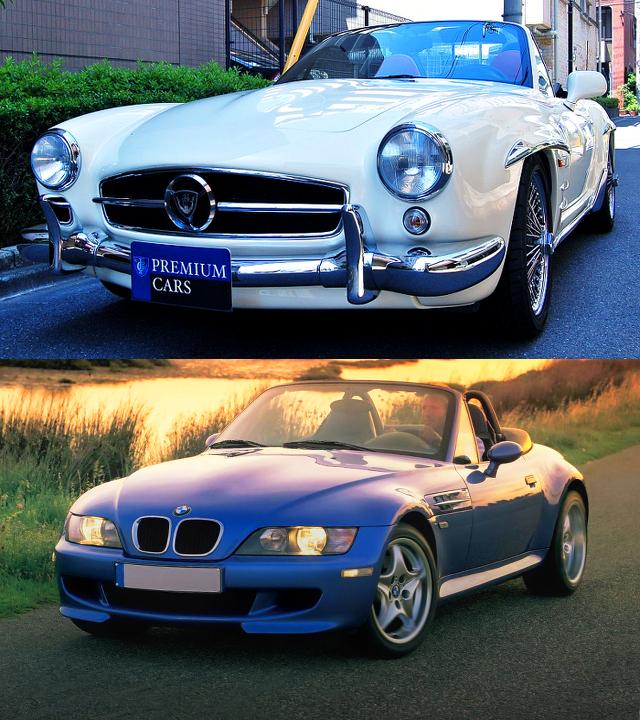 BMW・Z3ベース!ベンツ190SLレプリカ・デュッセンバイエルンロードスター3.0i&R230ベース!ベンツ190SLレプリカ動画