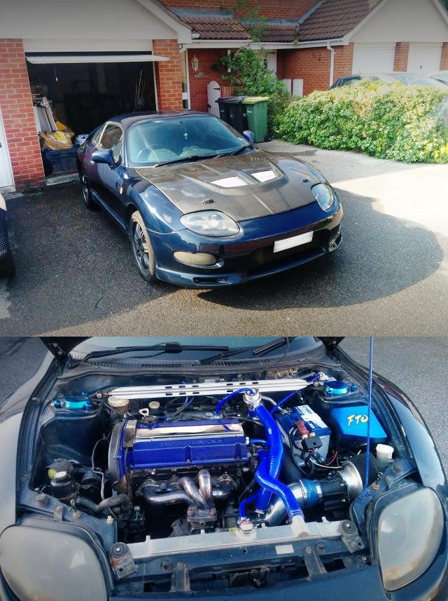 (イギリス)ランエボ5用4G63ターボエンジンスワップ/4ポットAPレーシングキャリパー!三菱FTO