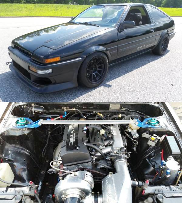 (アメリカ)S2000用F22C改VTECスーパーチャージャーエンジン移植!AE86カローラGTS&掲載車の動画