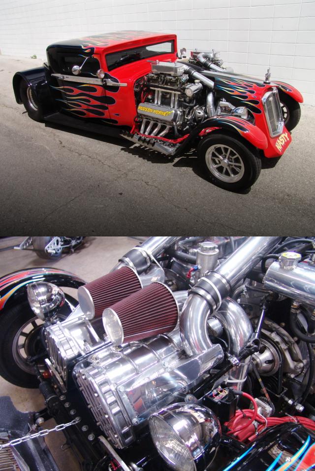 (海外)1600馬力!468ciビッグブロック2基/ツインブロワー(スーパーチャージャー)!1930年式ハドソンクーペ&掲載車の動画