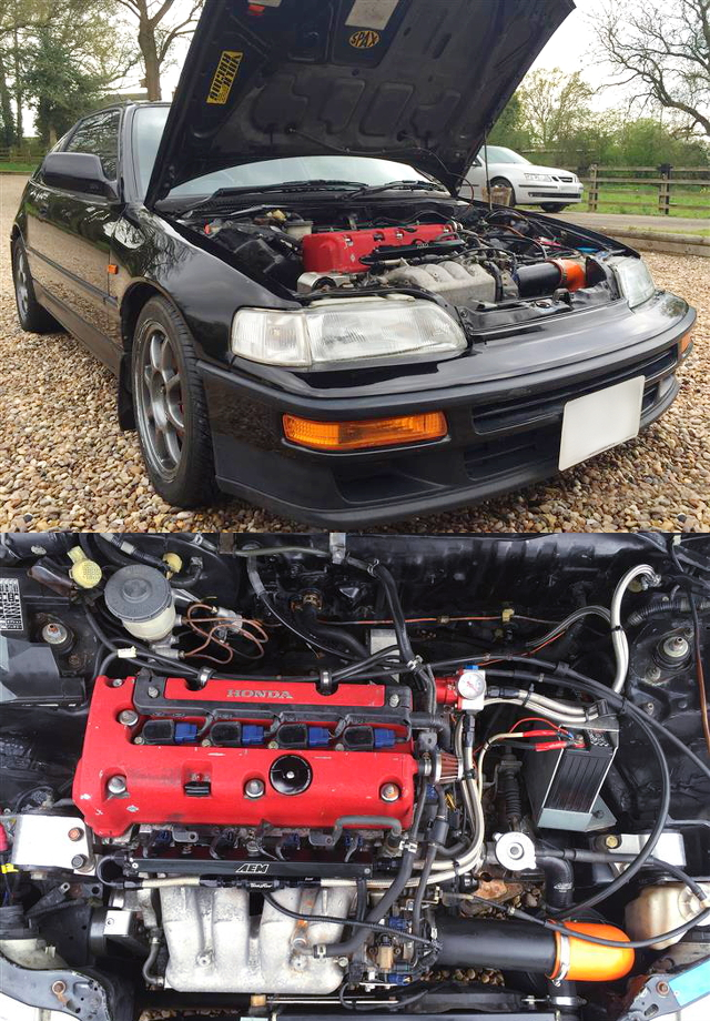 (イギリス)K20A型i-VTECエンジン6速MT換装!レジェンド用ブレーキキャリパー!EF8型ホンダCRX・SiR