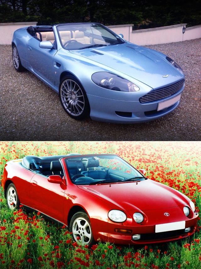 (イギリス)6代目T200セリカベース!アストンマーティンDB9ヴォランテレプリカ&LS1改ターボエンジン換装E39型BMW528i動画