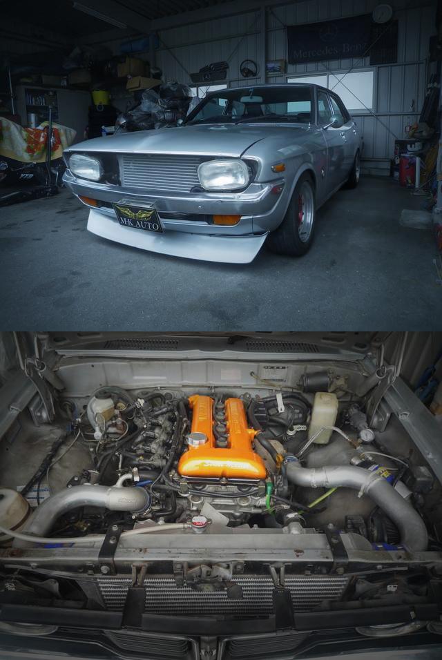 日産用SR20DETターボエンジン移植!街道レーサー当時仕様!2代目X10型コロナマークⅡ4ドア&MRSカセルタ中古車物件