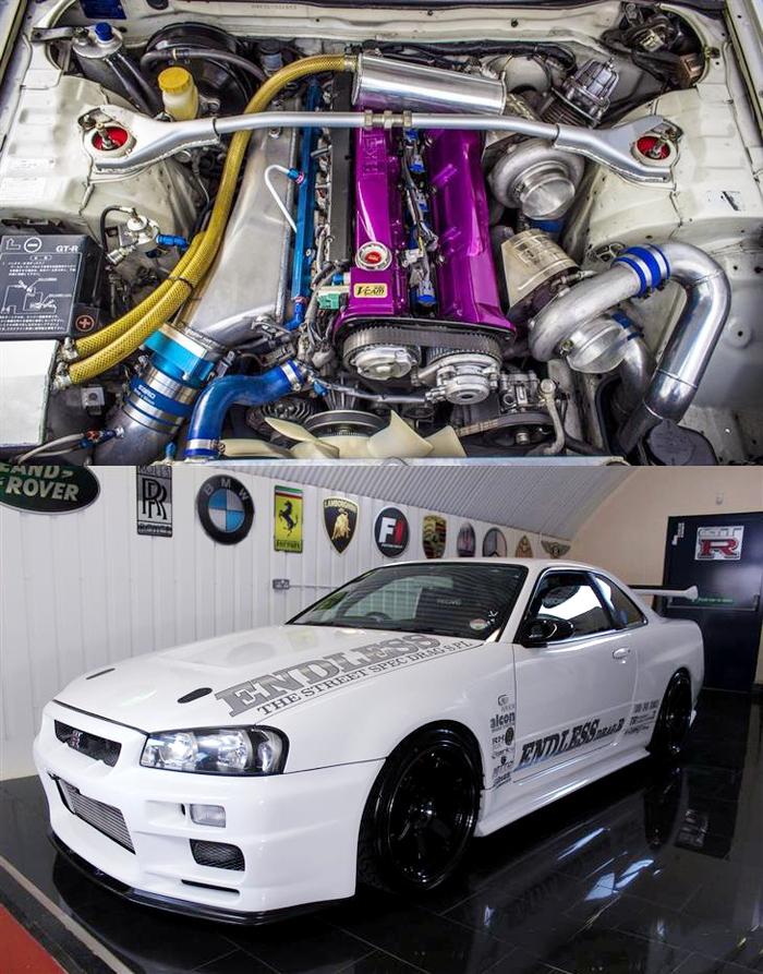 (イギリス)1000馬力以上エンドレス元デモカー!GT3240ツインBNR34スカイラインGT-R・Vスペック&掲載車の動画