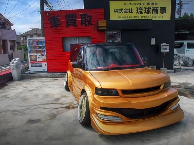 BLITZスーパーチャージャー搭載!オーバーフェンダー加工!キャンバー!初代NCP31型トヨタbB&トラウム元デモカー90クレスタの中古車