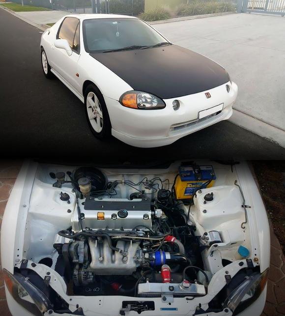 (海外)K24A型i-VTECエンジンスワップ!DC5用6速マニュアル!ホンダCRXデルソル&Raceism2015リンボーコンテスト動画