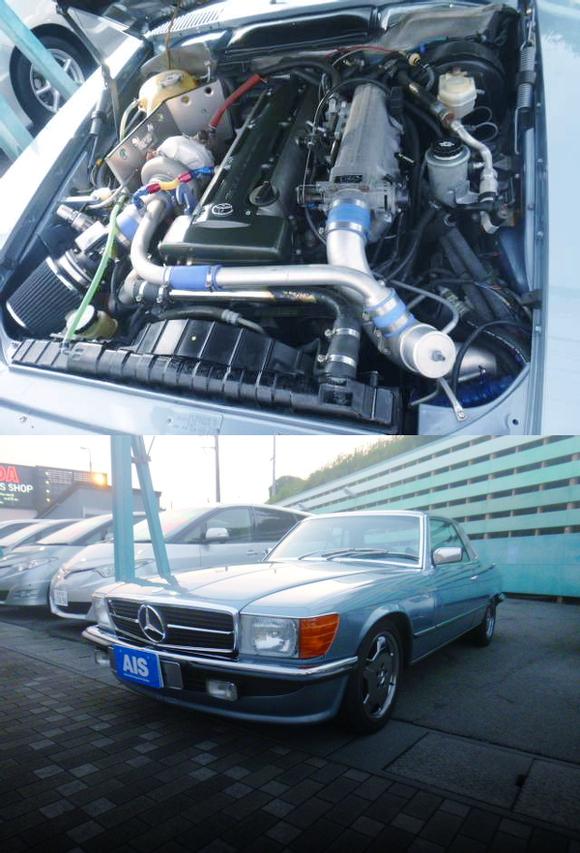 国内!2JZエンジン移植ビッグシングルタービン!3代目R107型ベンツ450SLC&ナイトライダー!ナイト2000SPMレプリカ動画