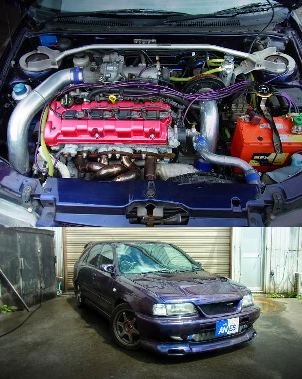 改造費400万円以上!J18Aエンジン換装GT-RSタービンFCONis制御!エアコンレス!GC21W型カルタスクセレントワゴン1.5T