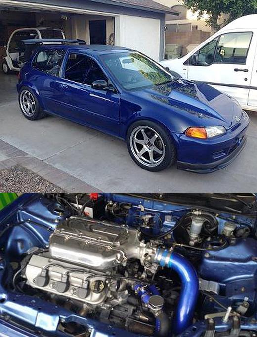 (アメリカ)285馬力!アキュラ用J32A型V6エンジン移植!5代目EG型シビック&後輪駆動!ドリフト仕様インプレッサ動画
