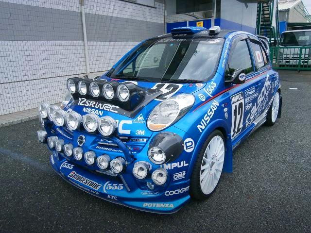 顔が凄い!追加HIDフォグランプ多数!GRB用WRCミラー移植!ブレーキバランサー!油圧サイド!K12マーチ5ドア