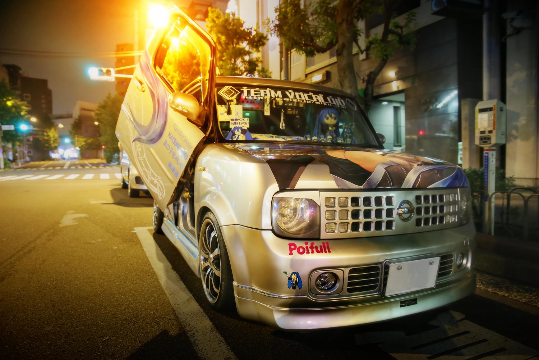 2015年6月27日撮影!秋葉原痛車通り(初音ミク 風の子ミク号/日産キューブ(どんちきしぐ。さん))