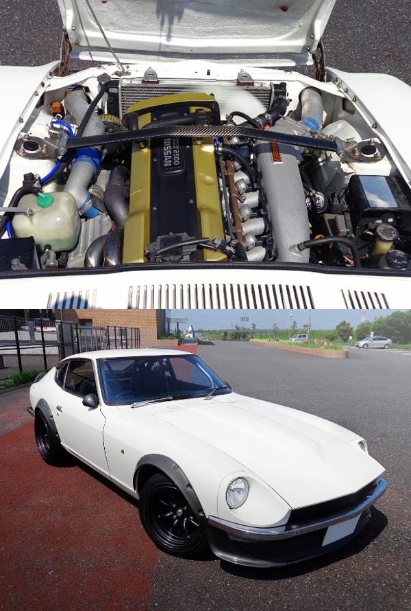 RB25DETエンジン改GT2835タービン!タイプM4ポットキャリパー!S30フェアレディZ&+81Like2015駐車場入口動画