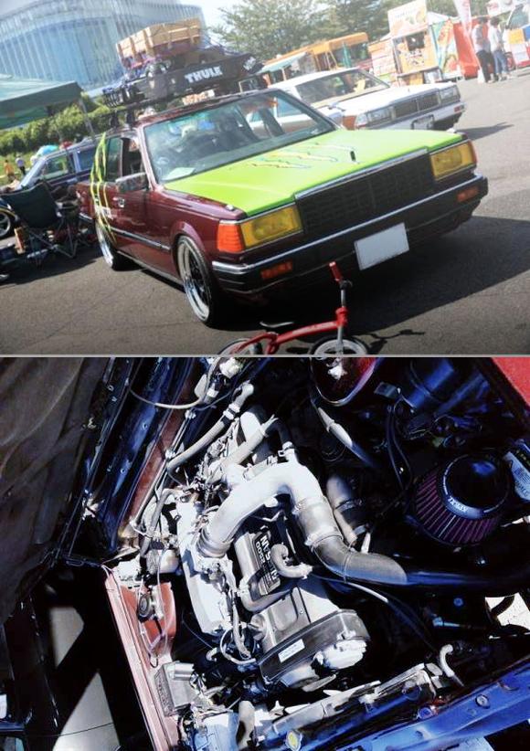 R33スカイライン用RB25DETターボエンジン5速MT移植!Y30セドリック&初代セリカ2000STの草ヒロ動画