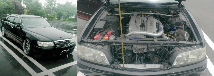 ネオ6モデルRB25DETターボエンジンスワップ!R33用5速マニュアル移植!Y33シーマ&頭文字Dのようなジャンクヤード動画