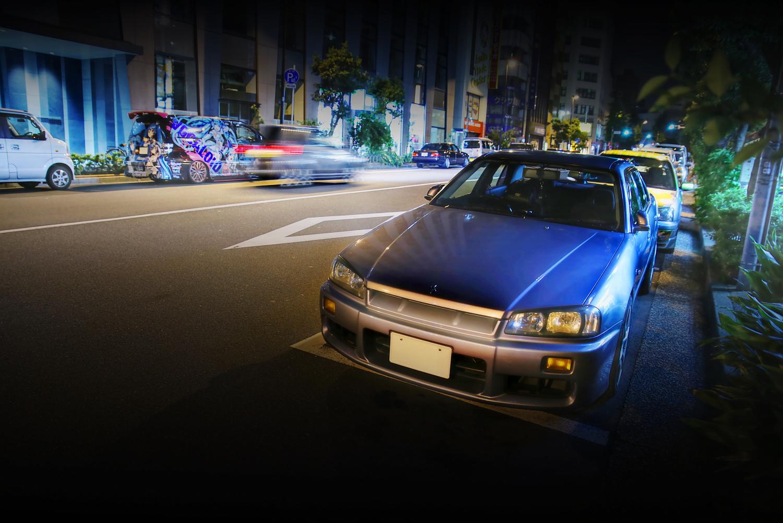 2015年7月撮影!秋葉原痛車通り(ER34日産スカイライン4ドア(翔さん))