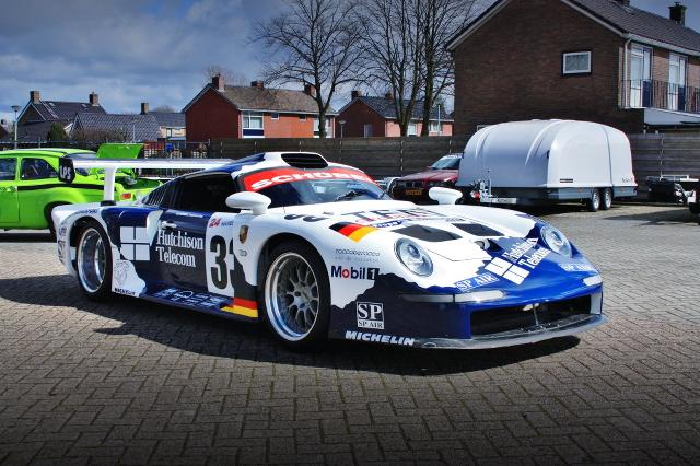 (オランダ)ルマン参戦レーシングカー再現!シボレーV8ビッグブロック!930用MT!ポルシェ911GT1レプリカ