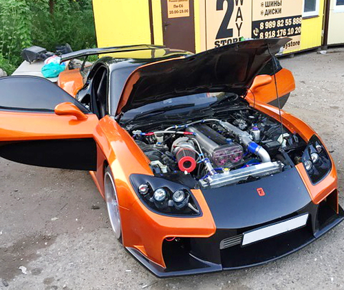 (ロシア)JZX90用1JZエンジン換装!GT3076フルタービン!FD3S系ヴェイルサイドフォーチューンRX7
