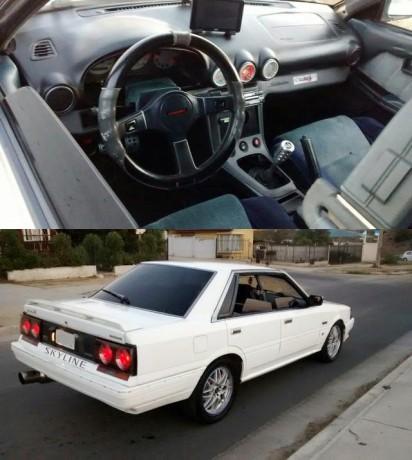 (チリ)4輪駆動(4WD)!LHD用S15社外ダッシュボード移植!RB25DETターボエンジン換装!R31スカイライン4ドア