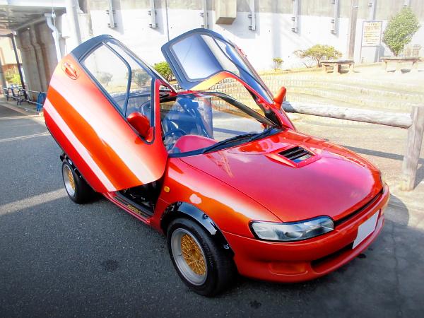 1300cc直4!K3-VE2エンジンスワップ!L700V系ミラバン&オーバーフェンダーワイド化!TOYOTAセラ中古車