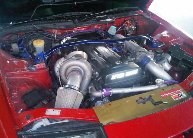 (タイ)2JZ-GTEエンジン改K27MOJシングルタービン!ワイドボディ仕様4代目Z32フェアレディZ