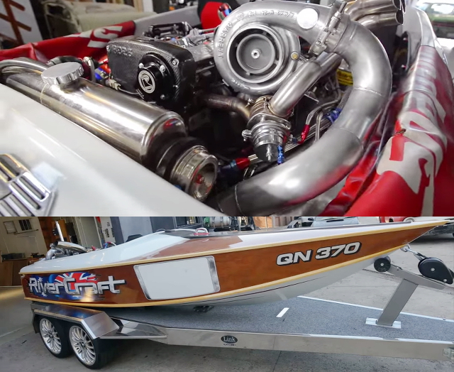 直4ターボ!JB型エンジン移植!初代L700S型ミラジーノ&スカイラインGTR用RB26DETTエンジン換装!水上スキーボート動画