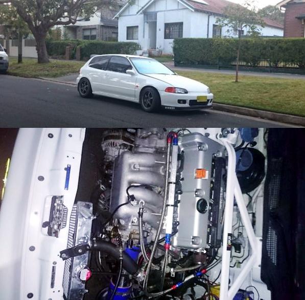 (オーストラリア)300馬力!K24A型i-VTECエンジンスワップ!HONDATA制御!EG型ホンダ・シビック