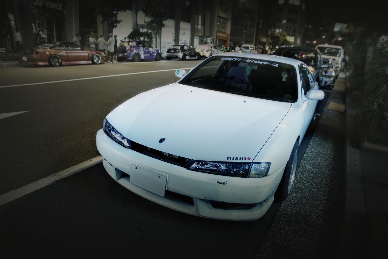 2015年8月コミケ88期間撮影!秋葉原痛車通り(S14日産シルビア)