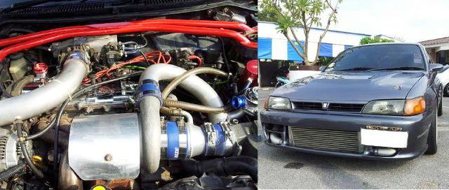 (タイ)3S-GTEエンジンスワップ!TD06-25Gタービン装着!7代目AE101カローラ4ドアセダン