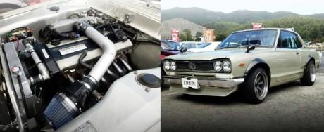 RB25DEエンジンスワップ公認!オーバーフェンダー!旧車ハコスカ!3代目C10系スカイラインGTX