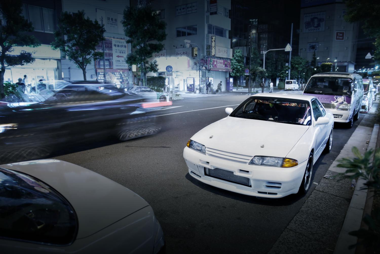 2015年8月コミケ88期間撮影!秋葉原痛車通り(R32日産スカイライン)