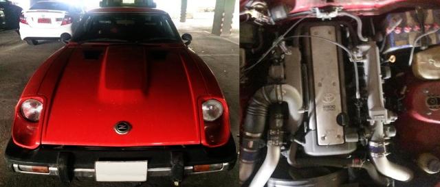(タイ)トヨタ用VVT-iターボ!1JZ-GTEエンジン移植!2代目GS130日産フェアレディZ・2BY2