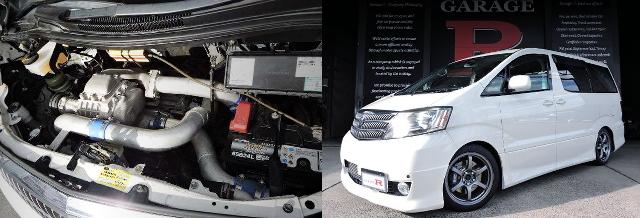 BLITZスーパーチャージャー装着eマネージアルティメイト制御!エンドレス6POT!初代H10W型アルファード