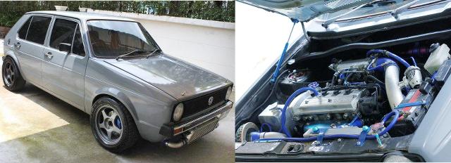 (タイ)トヨタ用4E-FTE型1.3Lターボエンジン移植!フォルクスワーゲン初代ゴルフMK1