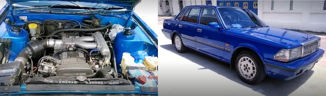 (タイ)トヨタ用2500cc直6NAモデル1JZ-GEエンジン移植!ATシフト!6代目Y30日産セドリック&大黒PA閉鎖動画
