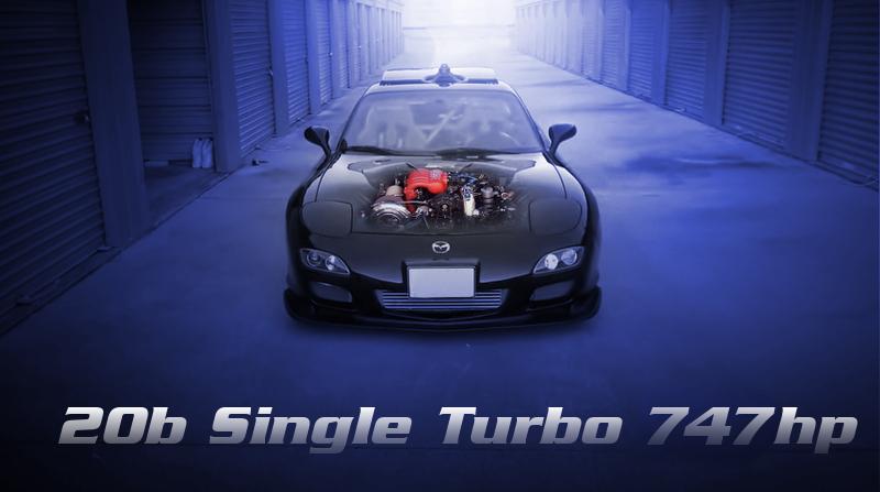 700馬力以上!20B型3ロータリーエンジンスワップ!シングルビッグタービン!FD3S型RX-7のアメリカ中古車物件を掲載。