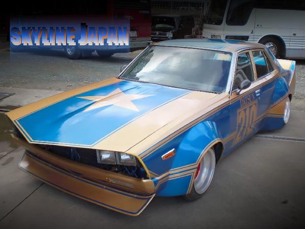 ロングノーズ!ワークスワイド!フレークラメレーシングカラー!街道レーサーHGC211型ジャパン4ドア