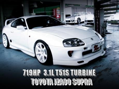 HKS札幌チューン!719馬力!3.1L化T51SタービンVプロ制御!JZA80スープラRZの国内中古車を掲載!
