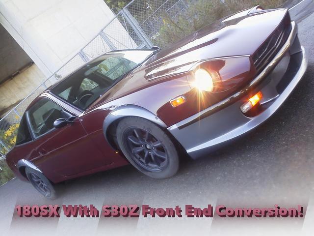 240ZGマルーンカラー塗装!S30フェアレディZフェイス仕上げ!日産180SXの国内中古車を掲載!